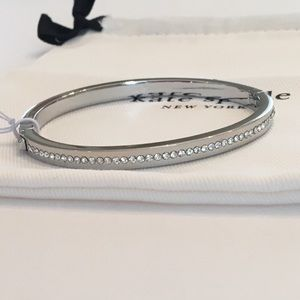 KATE SPADE Ring It Up Pave Hinged Bangle Bracelet